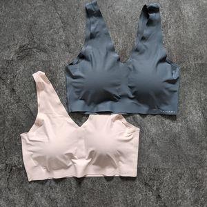 2 Tahari seamless padded bras grey and pink